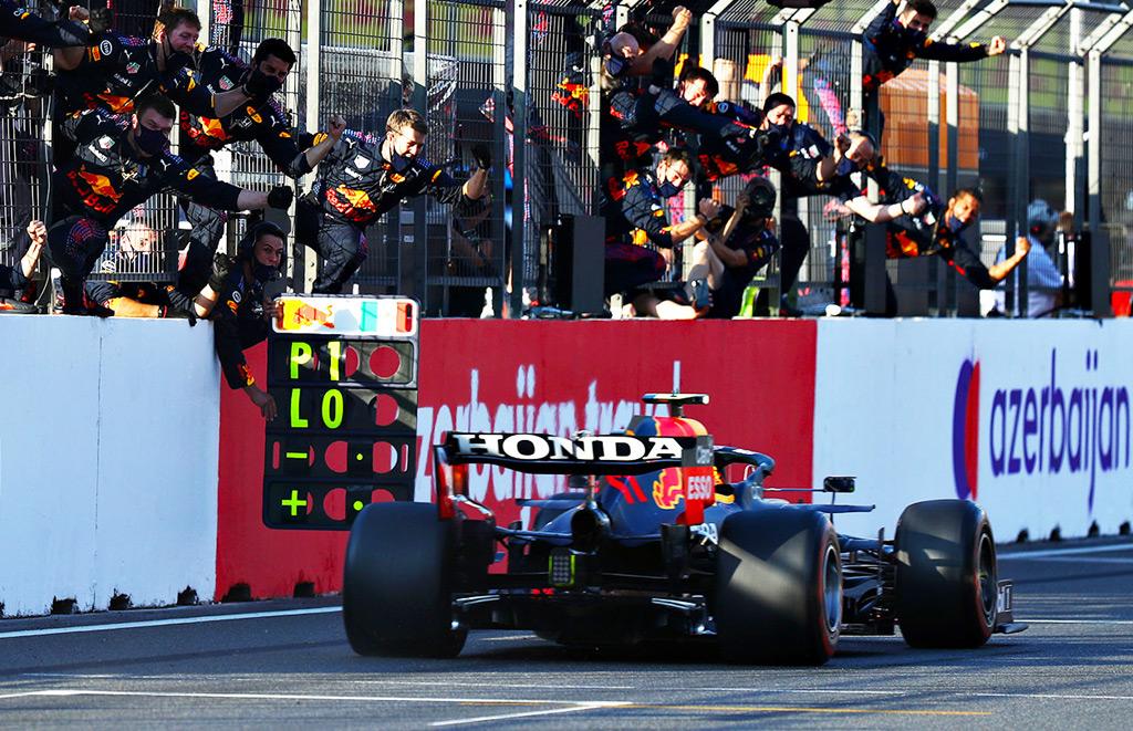 Red Bull Racing's Sergio Perez at the 2021 Formula One Azerbaijan Grand Prix