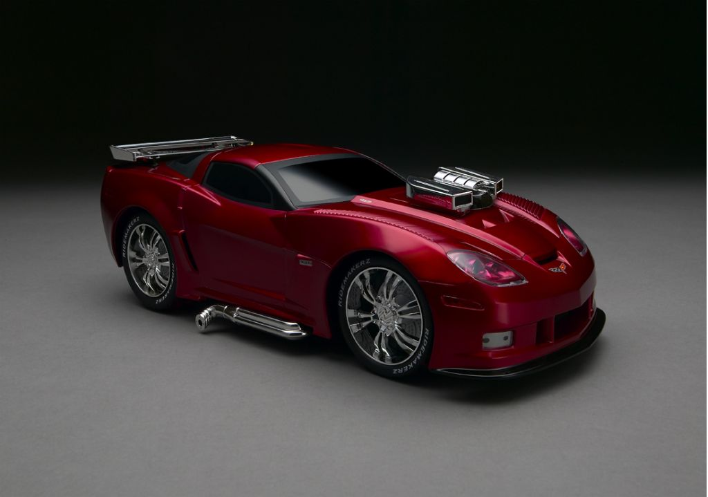 Red C6RS electric Corvette toy