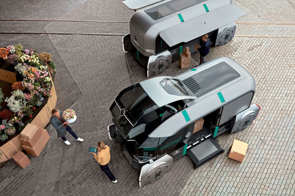 Renault envisions convoys of self-driving delivery vehicles with EZ-Pro concept