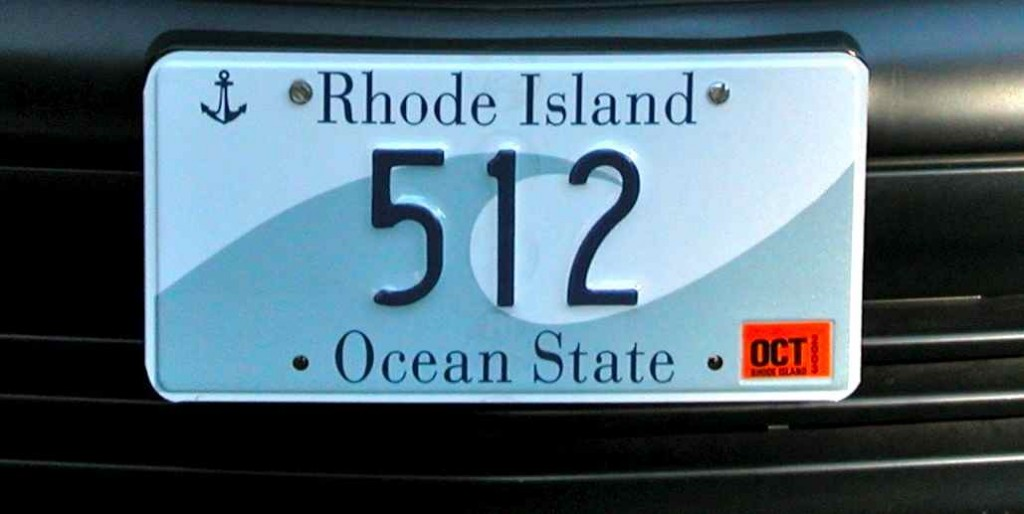 Rhode Island license plate. Image courtesy of Wikipedia.