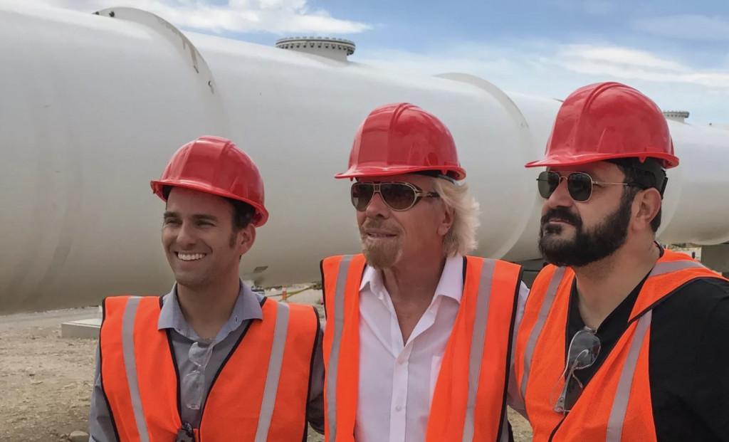 Richard Branson with Virgin Hyperloop One executives
