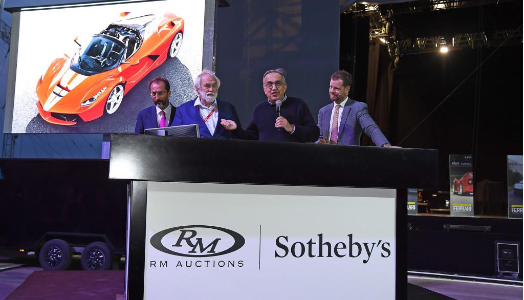 Rights to the Ferrari LaFerrari Aperta #210 sold during Ferrari – Leggenda E Passione auction