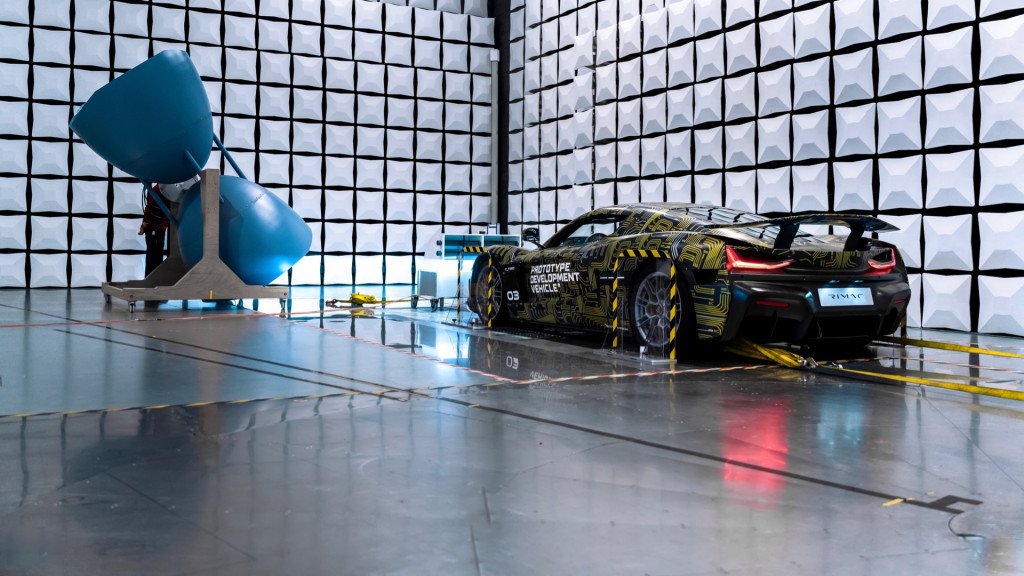 Rimac C_Two electromagnetic-emissions testing