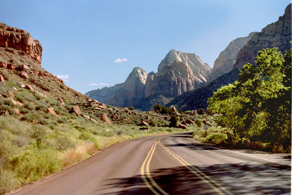Road trip in Zion National Park