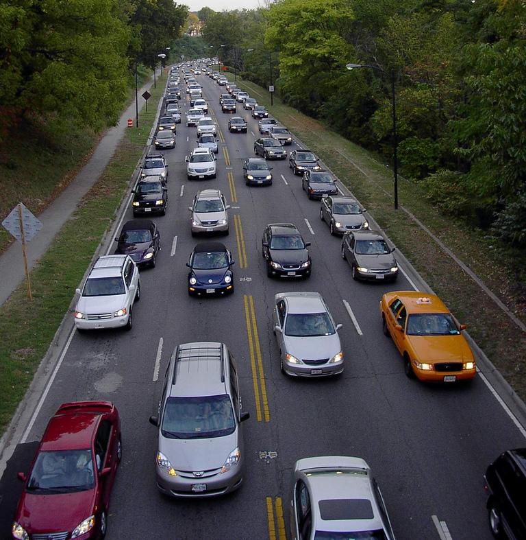 Rush hour traffic in Washington, D.C. (photo by Flickr user haddensavix)