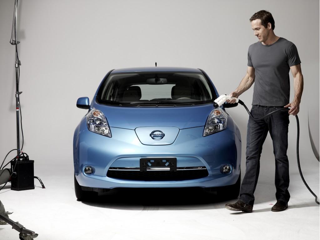 Ryan Reynolds Nissan Leaf Spokesperson