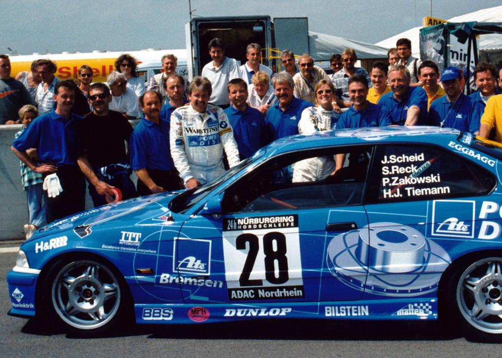 Sabine Schmitz at the 1997 24 Hours of Nürburgring