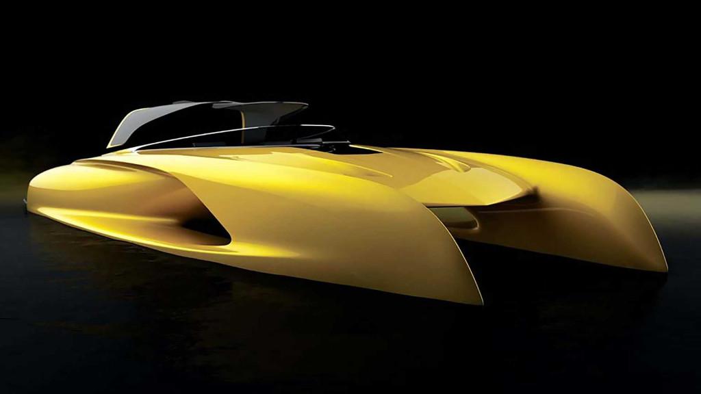 Bugatti designer's yacht pays homage to legendary Atlantic coupe