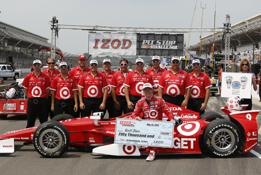 Indy 500 Carb Day Practice To Franchitti Dixon Takes Izod Pit Stop Challenge