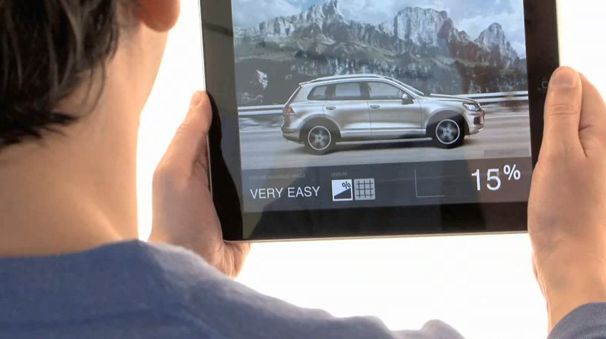 Screencap from a video promoting VW's new magazine, DAS.