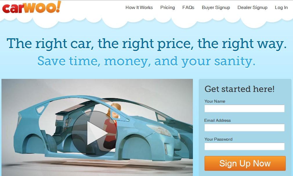 Screencap from CarWoo!