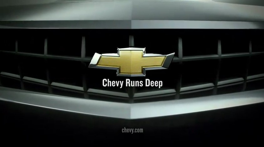 Screencap from Chevrolet's 'Chevy Runs Deep' ad