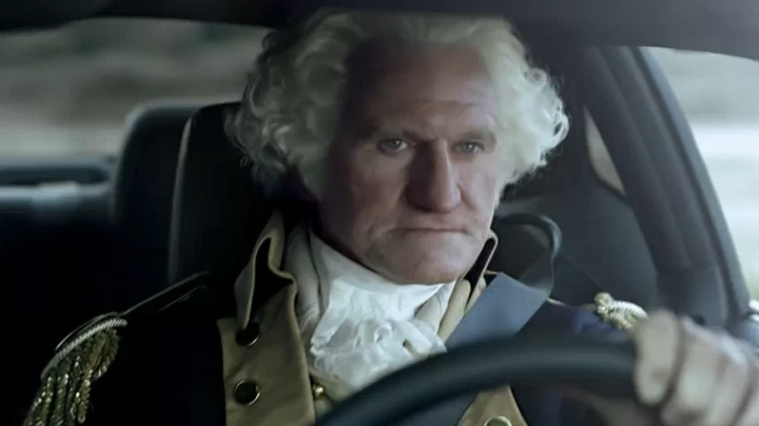 Screencap from Dodge Challenger World Cup commercial