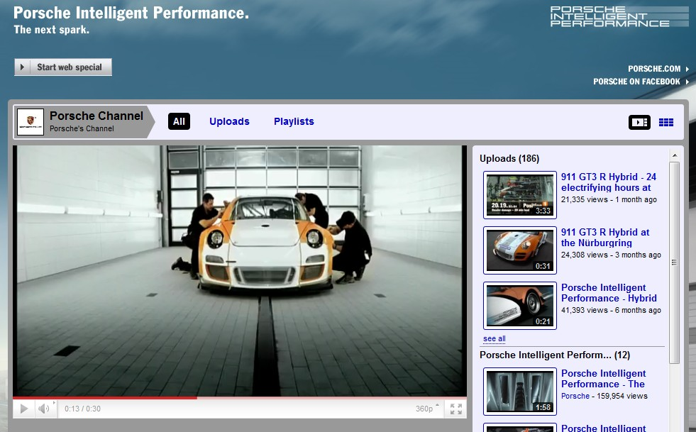 Screencap from Porsche's YouTube channel