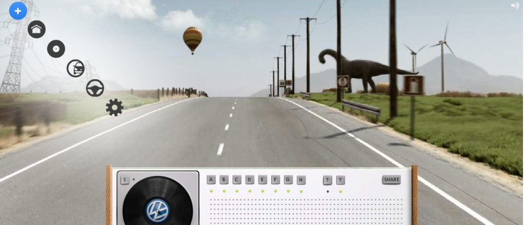 Screencap from Volkswagen's Remix Road microsite for the Golf