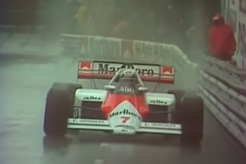 Watch Senna Catch Prost In The Rain At Monaco, Announced By James Hunt: Video