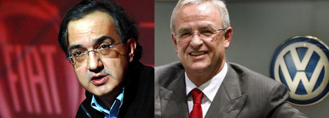 Sergio Marchionne and Martin Winterkorn