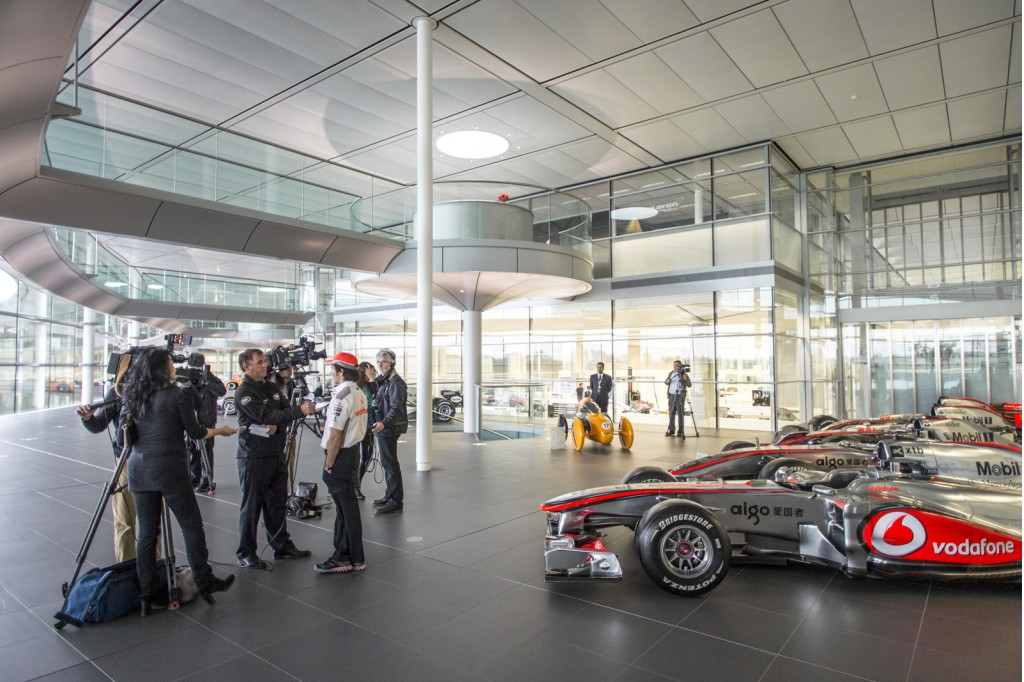 Sergio Perez's first day at McLaren