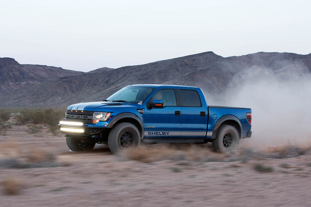 shelby american baja 700 turns up the wick on the ford f-150 svt raptor
