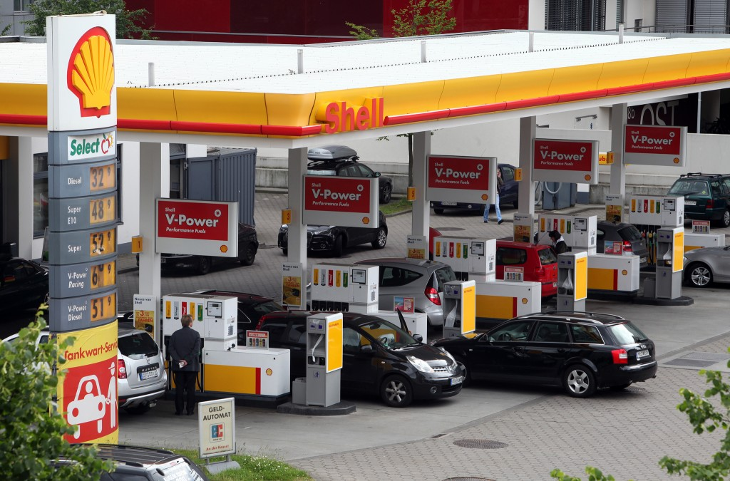 Shell fuel station in Europe