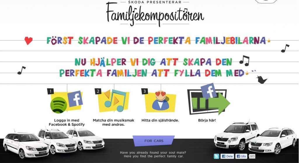 Skoda's 'Family Composer' website