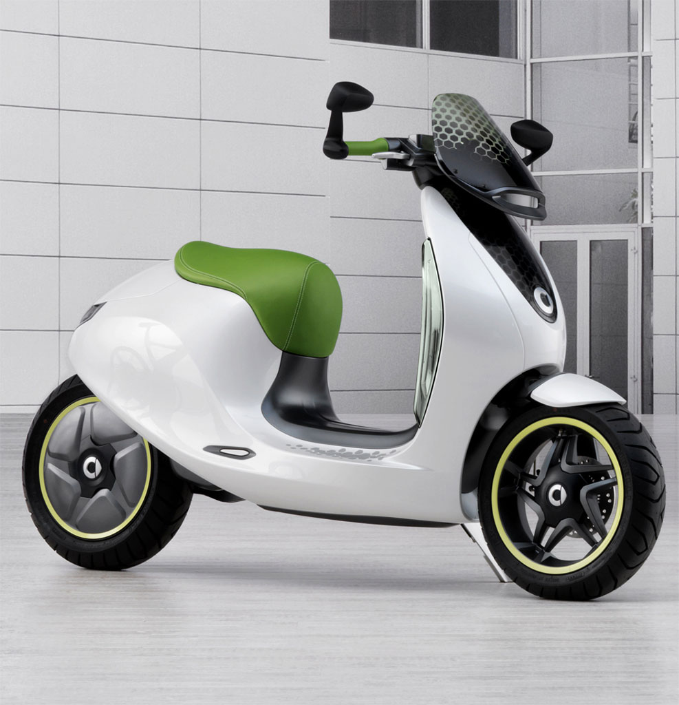 2014 Smart Fortwo Electric Drive Transmission: Image: 2010 Smart Escooter Concept, Size: 987 X 1024, Type