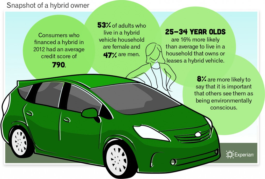 Snapshot of a hybrid owner - Experian infographic