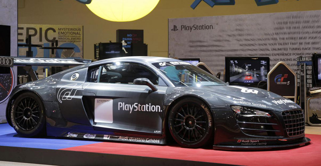 Beautiful Sony PlayStation Sponsored Audi R8 LMS Race Car