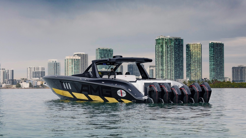 Cigarette Racing's new AMG-inspired boat has 6 engines and 2,700 horsepower