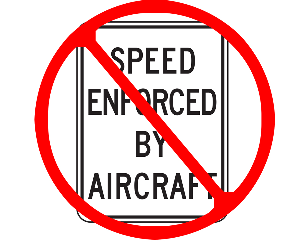 Speed enforcement by aircraft plummets