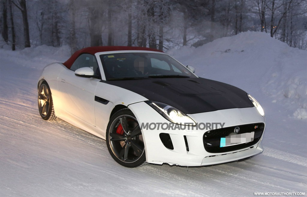 Spy shots of Jaguar F-Type prototype testing new engine