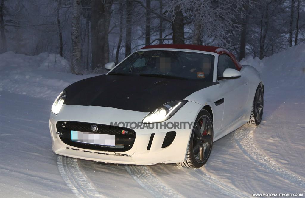 Spy shots of Jaguar F-Type prototype testing new engine