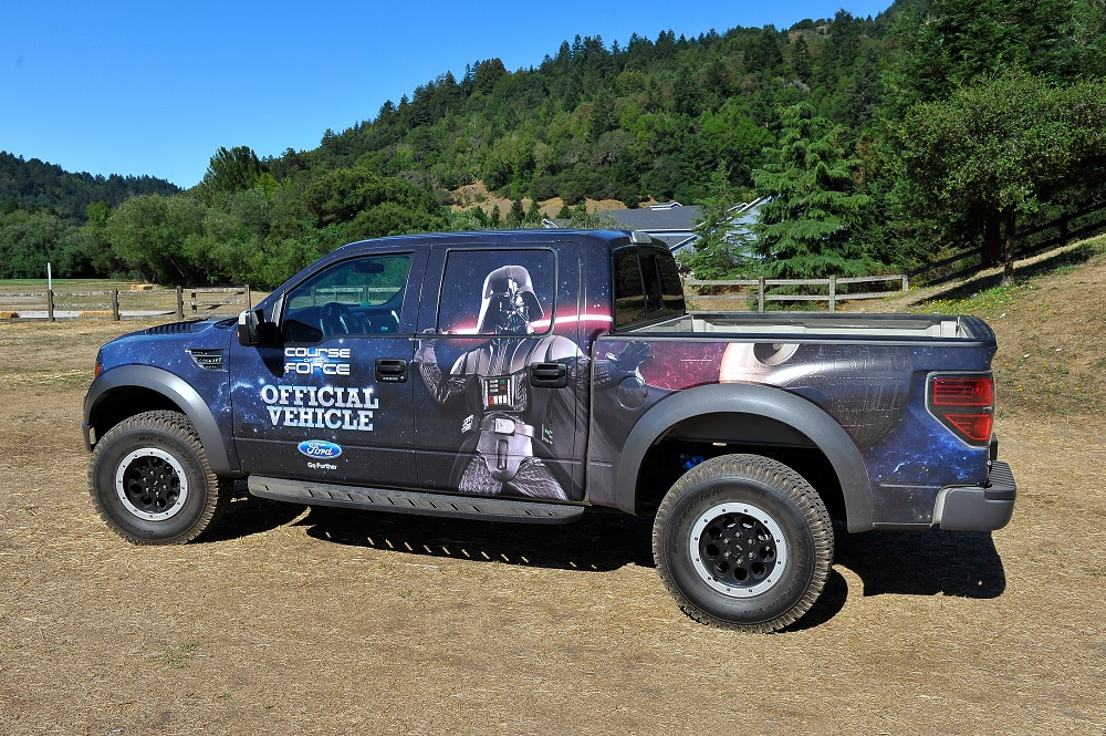 Star Wars-themed Ford F-150 SVT Raptor for 'Course of the Force'