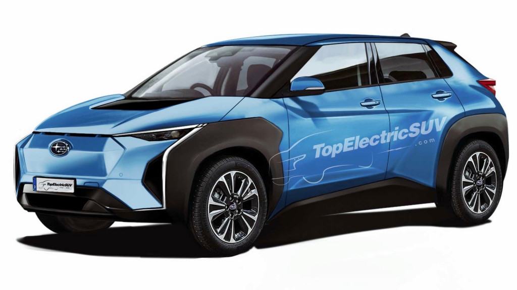 Subaru electric crossover rendering by TopElectricSUV.com