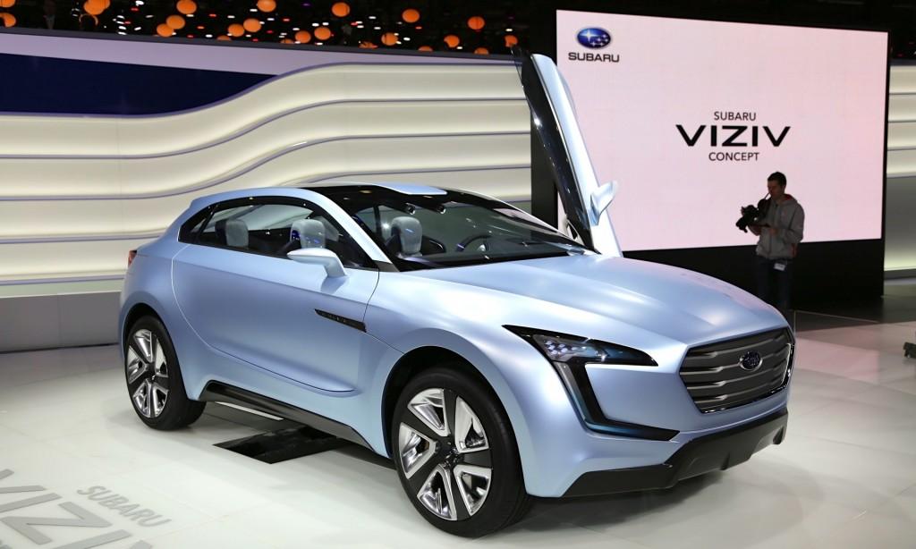 Subaru Viziv Concept Diesel Hybrid Crossover From Geneva Motor Show
