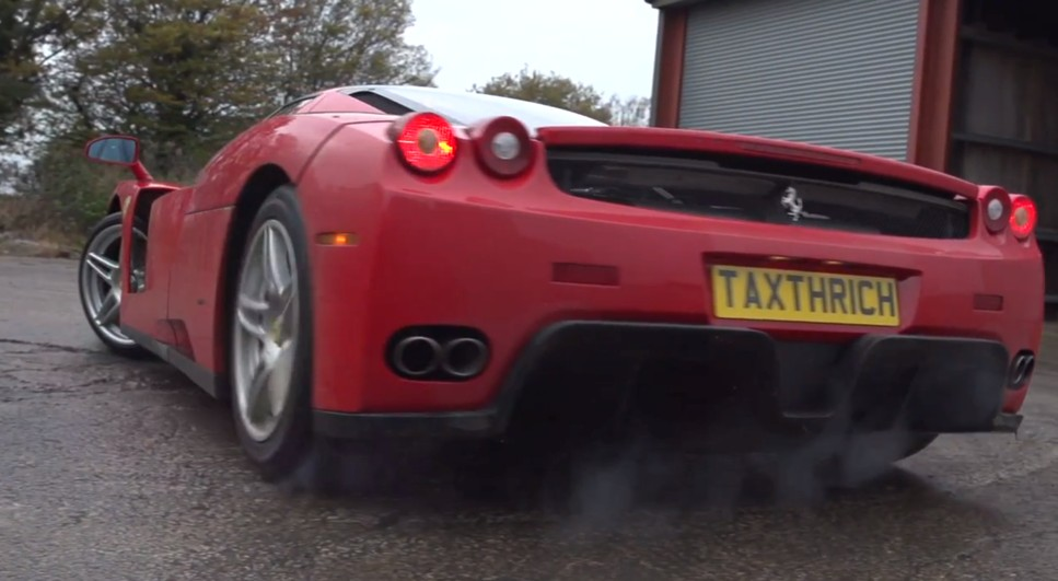 Here's A Ferrari Enzo Getting Dirty, Sideways: Video on drift honda civic, drift ford mustang, drift porsche,