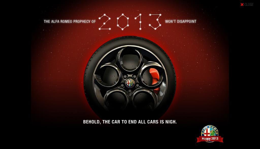 Teaser for 2014 Alfa Romeo 4C