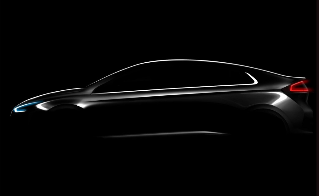 Teaser for 2017 Hyundai Ioniq debuting at 2016 Geneva Motor Show