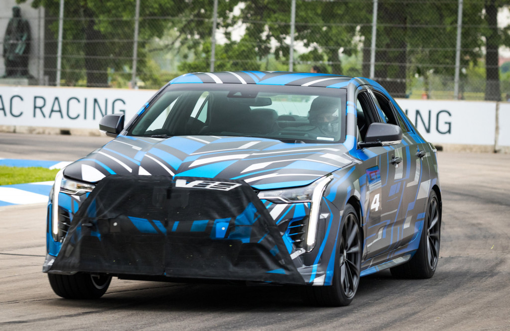 "Teaser for 2020 Cadillac CT4-V ""plus"" model"