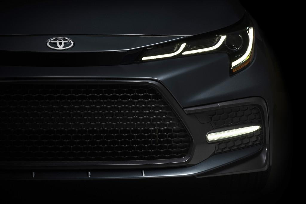 Teaser for 2020 Toyota Corolla debuting on November 15, 2018