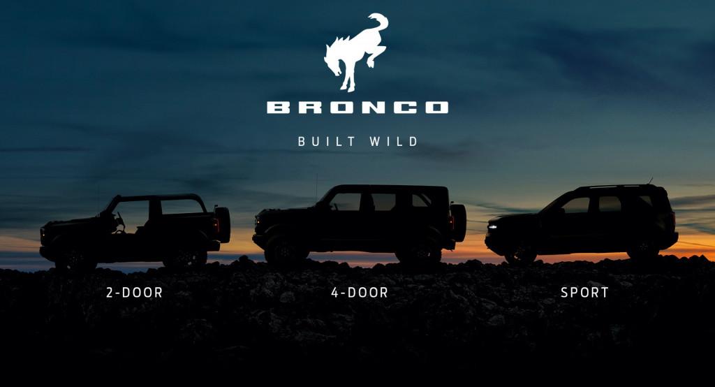 Teaser for 2021 Ford Bronco family debuting on July 13, 2020