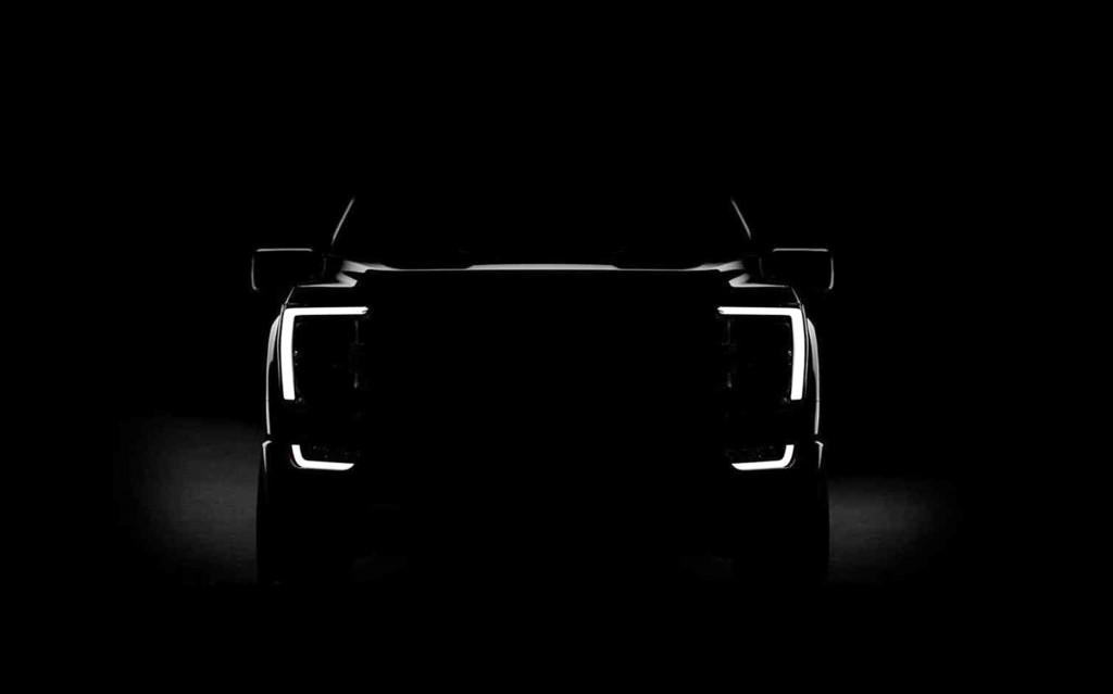 Teaser for 2021 Ford F-150 debuting on June 25, 2020