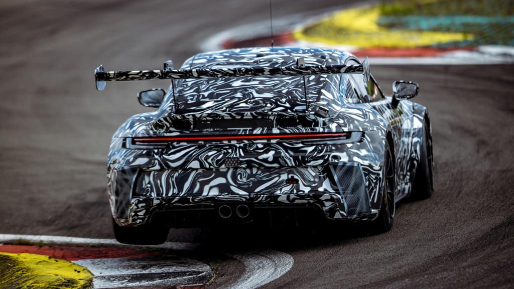 Teaser for 2021 Porsche 911 GT3 Cup race car