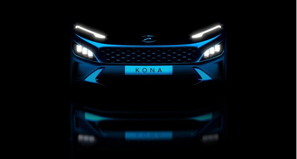 Teaser for 2022 Hyundai Kona