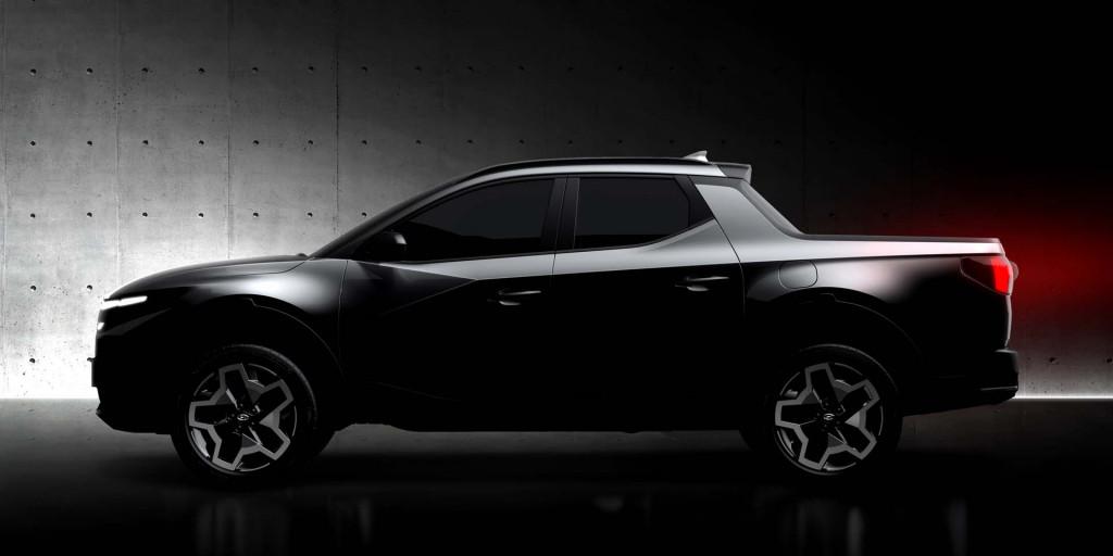 Teaser for 2022 Hyundai Santa Cruz debuting on April 15, 2021