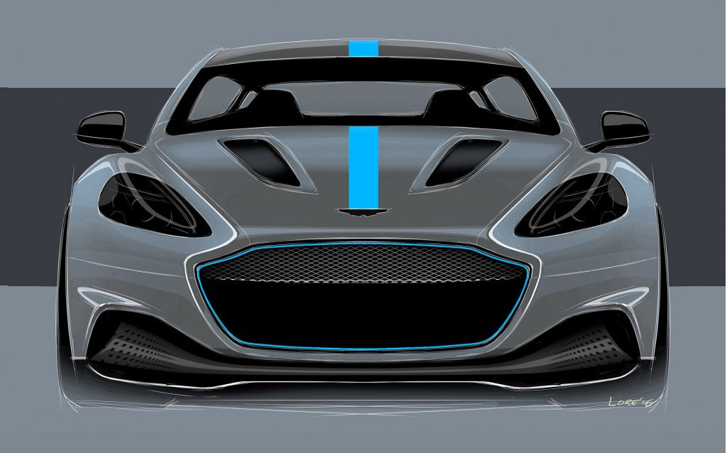 Teaser for Aston Martin Rapide E due in 2019