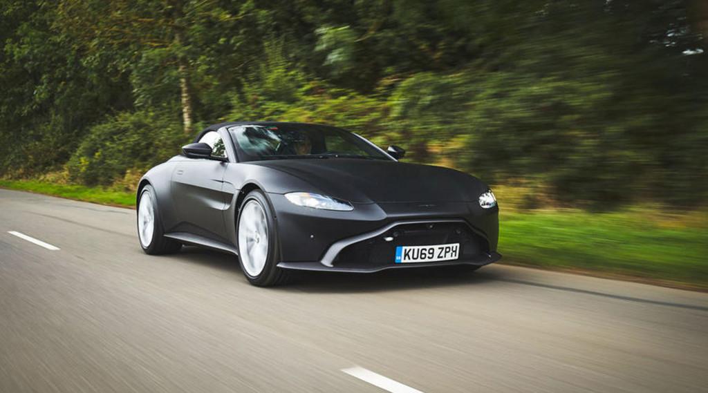 Teaser for Aston Martin Vantage Roadster debuting in spring 2020