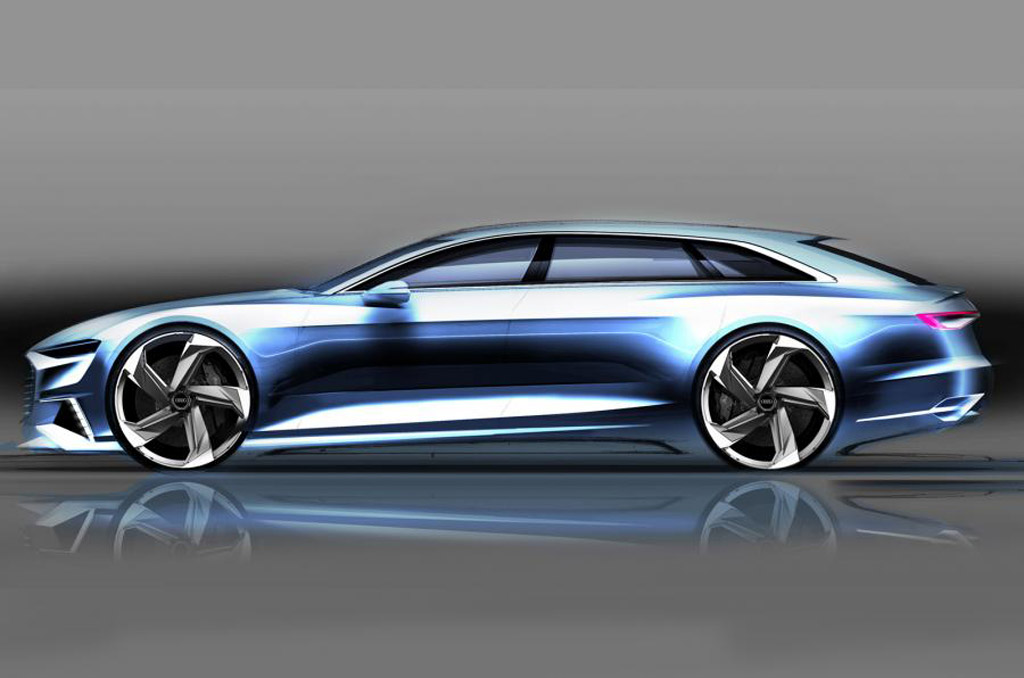 Teaser for Audi Prologue Avant concept debuting at 2015 Geneva Motor Show