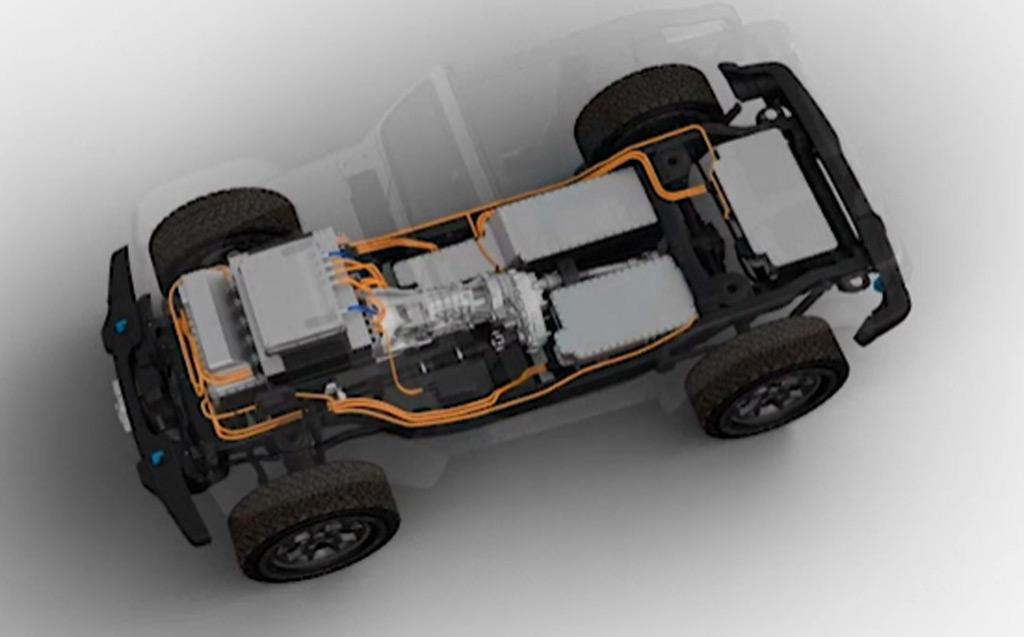 Teaser for batteri-elektrisk Jeep Wrangler-konsept