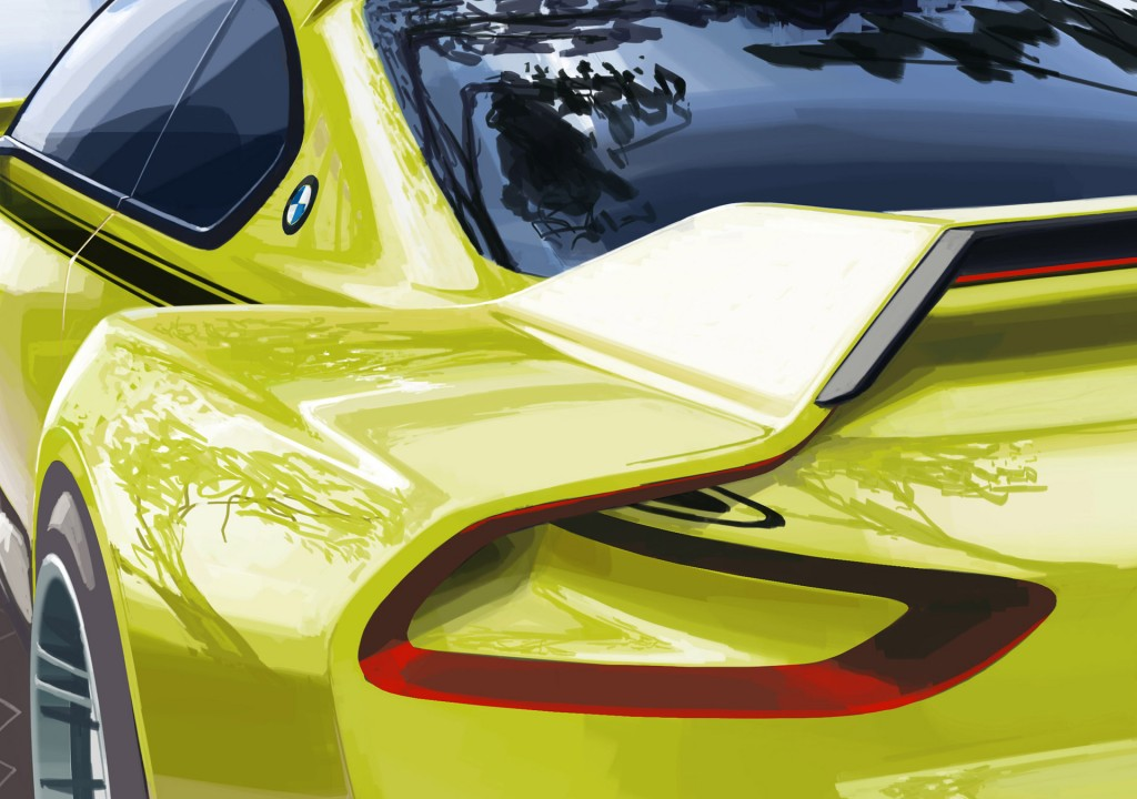 Teaser for BMW 3.0 CSL Hommage concept debuting at 2015 Concorso d'Eleganza Villa d'Este